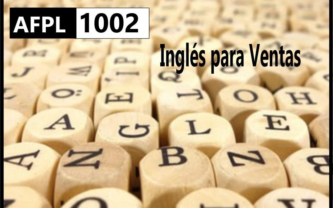 AFPL 1002  Inglés para  ventas