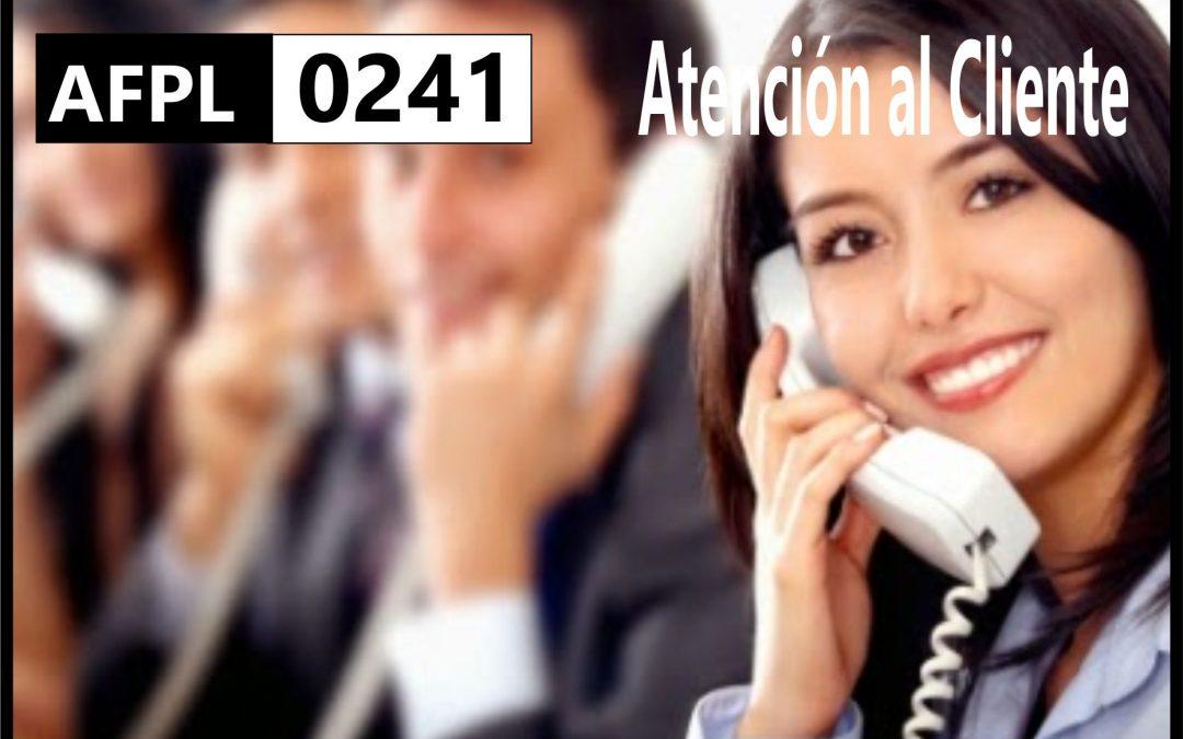 AFPL 0241  Atención al Cliente